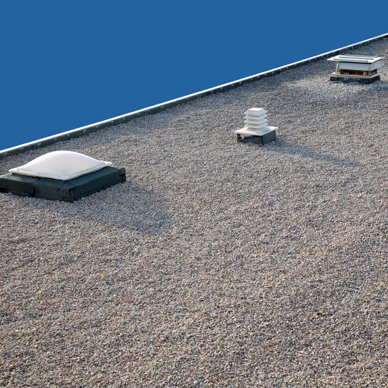 Commercial Roofing Gravel